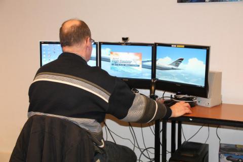 Foto flight simulator groep!